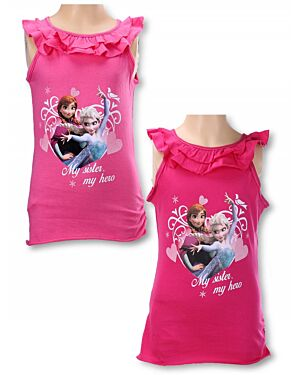 Girls Disney Frozen Sleeveless T-Shirts - TD6743