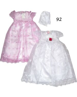 GIRLS SATIN PARTY DRESS WITH MESH FOR WEDDING AND CHRISTENING TD4093