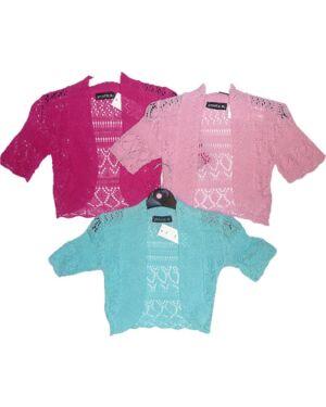 Girls Trendy Knitted Light Weight Shrug MJ3392