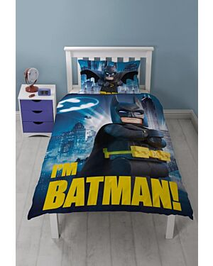 LEGO Batman Movie Hero Single Duvet Set with Large Print Design TD9036
