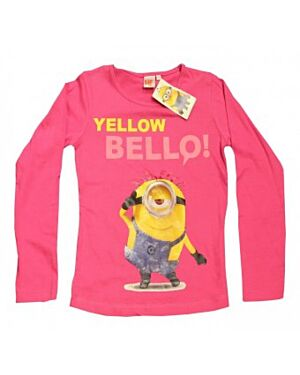 Minions Girls Pink Yellow Bello Long Sleeve Top TD10029