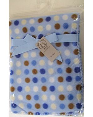 Polka Dots Polar Fleece printed Wrap MJ5591