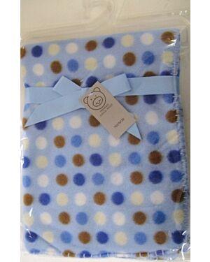 Polka Dots Polar Fleece printed Wrap MJ5591