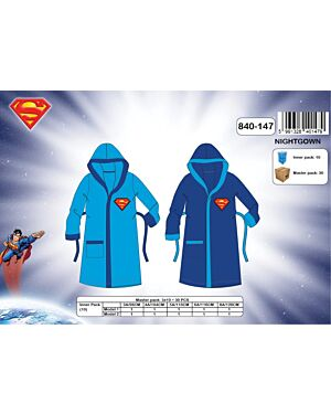 Superman Boys Hooded Dressing Gowns TD8160
